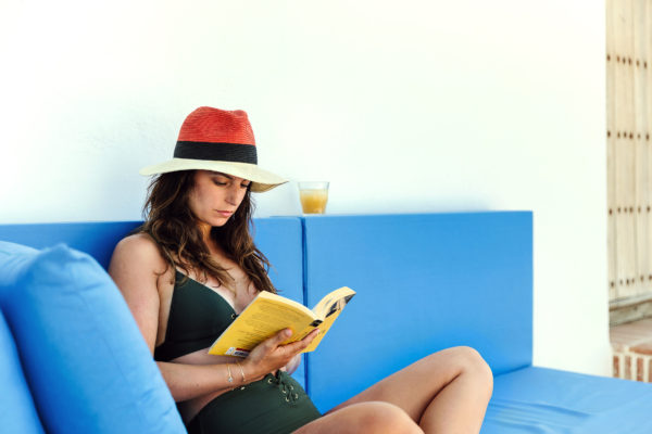 Women reading book